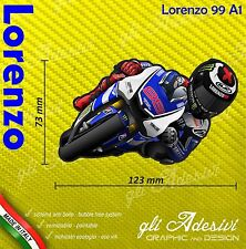 Adesivo Moto Lorenzo Jorge caricatura stickers carene 99 casco 12 x 7 cm