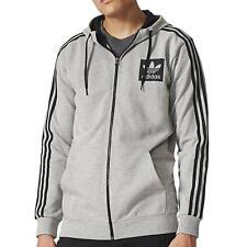adidas Originals Men s Street Essentials Full Zip Hoodie Grey AJ8086 1f63dafd11