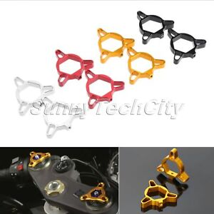 2x 22mm Motorcycle CNC Anodized Fork Preload Adjusters for Ducati 749 R 2004 05