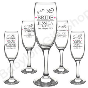 Image Is Loading Personalised Wedding Role Champagne Flutes Gles Gl Toasting