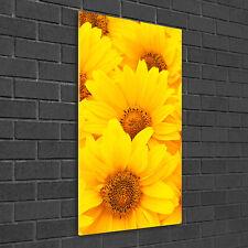 Leinwand-Bild Kunstdruck Hochformat 50x100 Bilder Sonnenblumen