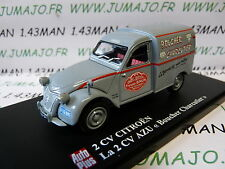 voiture 1/43 ELIGOR Autoplus CITROËN 2CV n°109 Boucher charcutier Brun