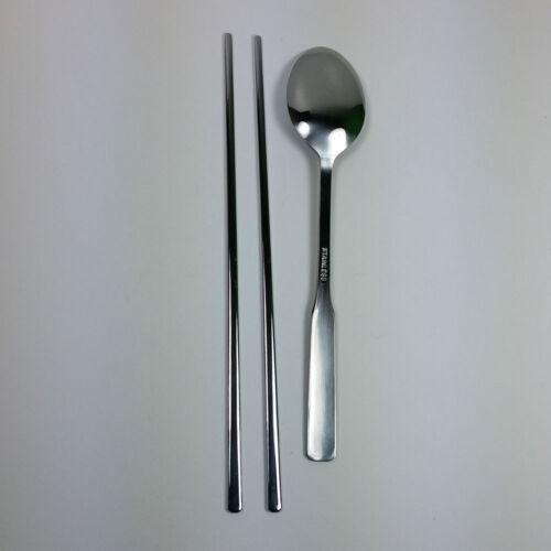 Korean Chopstick/&Spoon Stainless Steel Chopsticks High Quality leaf //dot patten