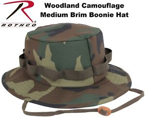 a357969b Image is loading Woodland-Camouflage-Military-Style-Boonie-Hat-Bucket-Hat-