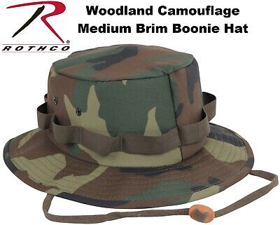 Woodland Camouflage Military Style Boonie Hat Bucket Hat Jungle Hat Rothco 5547