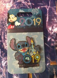 Walt-Disney-World-2019-Stitch-amp-Castle-3-D-Pin-New-OE-Pin