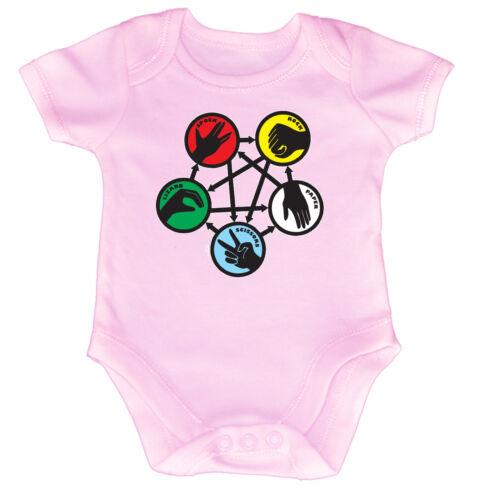 Rock Spock Colour Funny Baby Infants Babygrow Romper Jumpsuit
