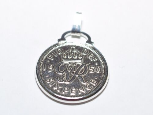 80th birthday 1939 80th Birthday lucky sixpence coin pendant charm