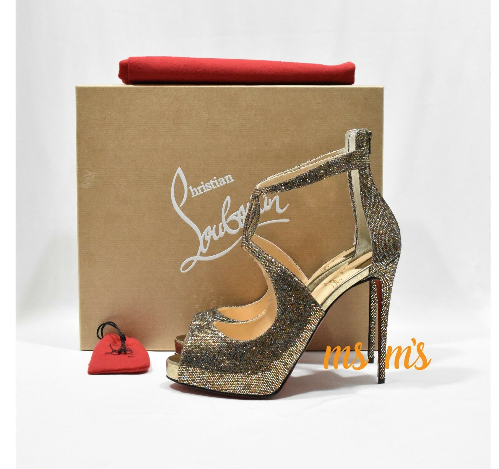 NIB Christian Louboutin Rosie flash Platform sq EU 40 us10