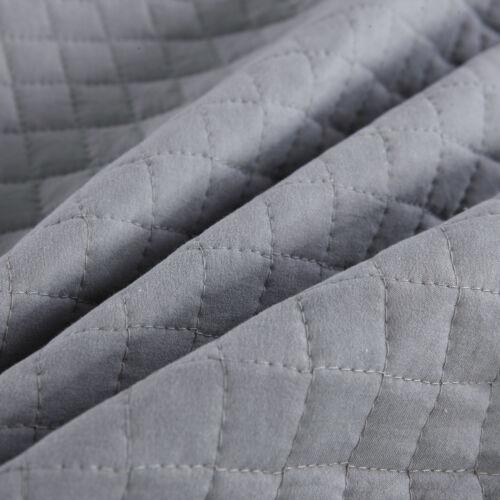 Tagesdecke Bettüberwurf Steppdecke kariert 170x210 cm Grau+Hellgrau BWP5008dgr01
