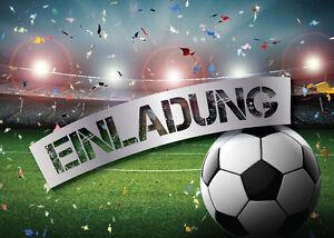 Details Zu Einladungskarten Einladungen Kindergeburtstag Fussball Fussball