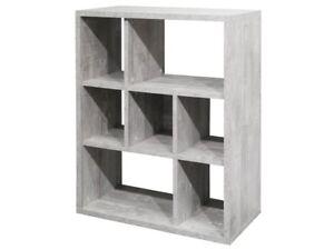 Raumteiler Bücherregal Schmales Regal Wandregal Holzoptik Beton