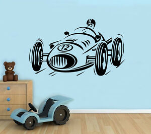 Image Is Loading Retro Race Car Wall Decal Formula One Bolide