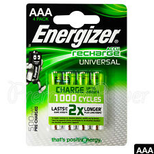 4x Battery AAA 500mah in BLISTER 1 2v Ultimate Lithium Energizer