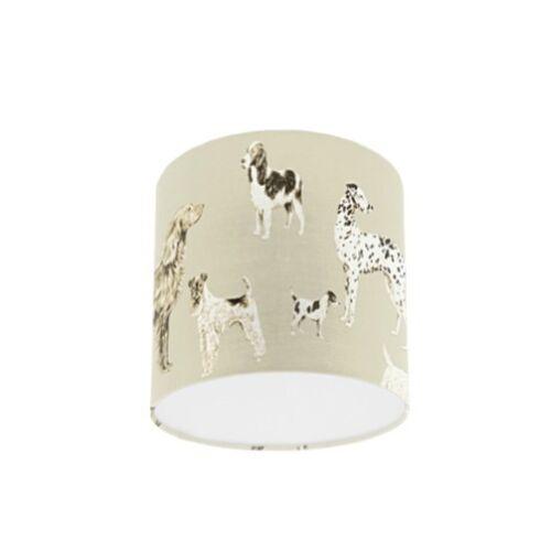 Laura ashley hunterhill foncé lin chien papier peint abat-jour pendentif Lightshade