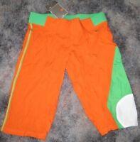Nike Bright Orange Green Womens Pants Xs 0 2 Capri