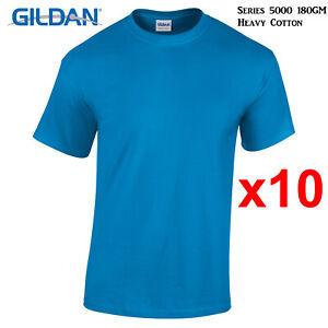 10-Packs-Gildan-Sapphire-T-SHIRT-Blank-Plain-Basic-Tee-S-5XL-Men-Heavy-Cotton