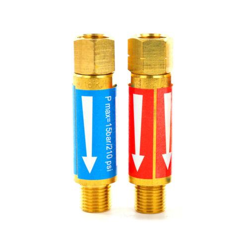 Oxygen//Acetylene FLASHBACK ARRESTORS Torch Welding Cutting 9//16-18 Threads New