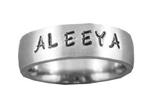 Stainless-Steel-Comfort-Fit-6mm-Personalized-Engraved-Name-Ring