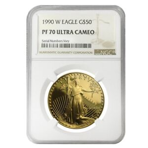 1990-W-1-oz-50-Proof-Gold-American-Eagle-NGC-PF-70-UCAM