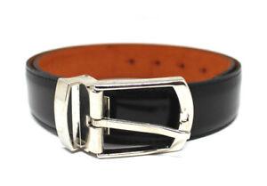 Cinta-cintura-uomo-nero-vera-pelle-cuoio-elegante-cerimonia-made-in-Italy-belt
