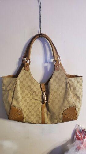 Gucci Jackie Monogram GG Pattern Large Tote Bag Ha