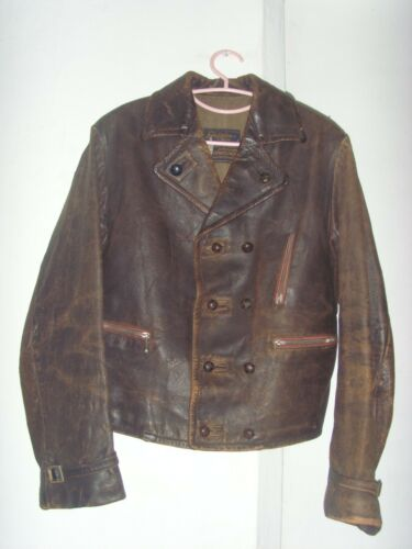 30's GERMAN MOTORCYCLE/FLYING LEATHER JACKET HILBE