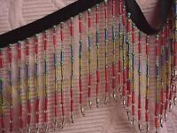 Per Yard Beautiful Multi-color 3 Glass Beaded Fringe Trim Lampshades Costumes