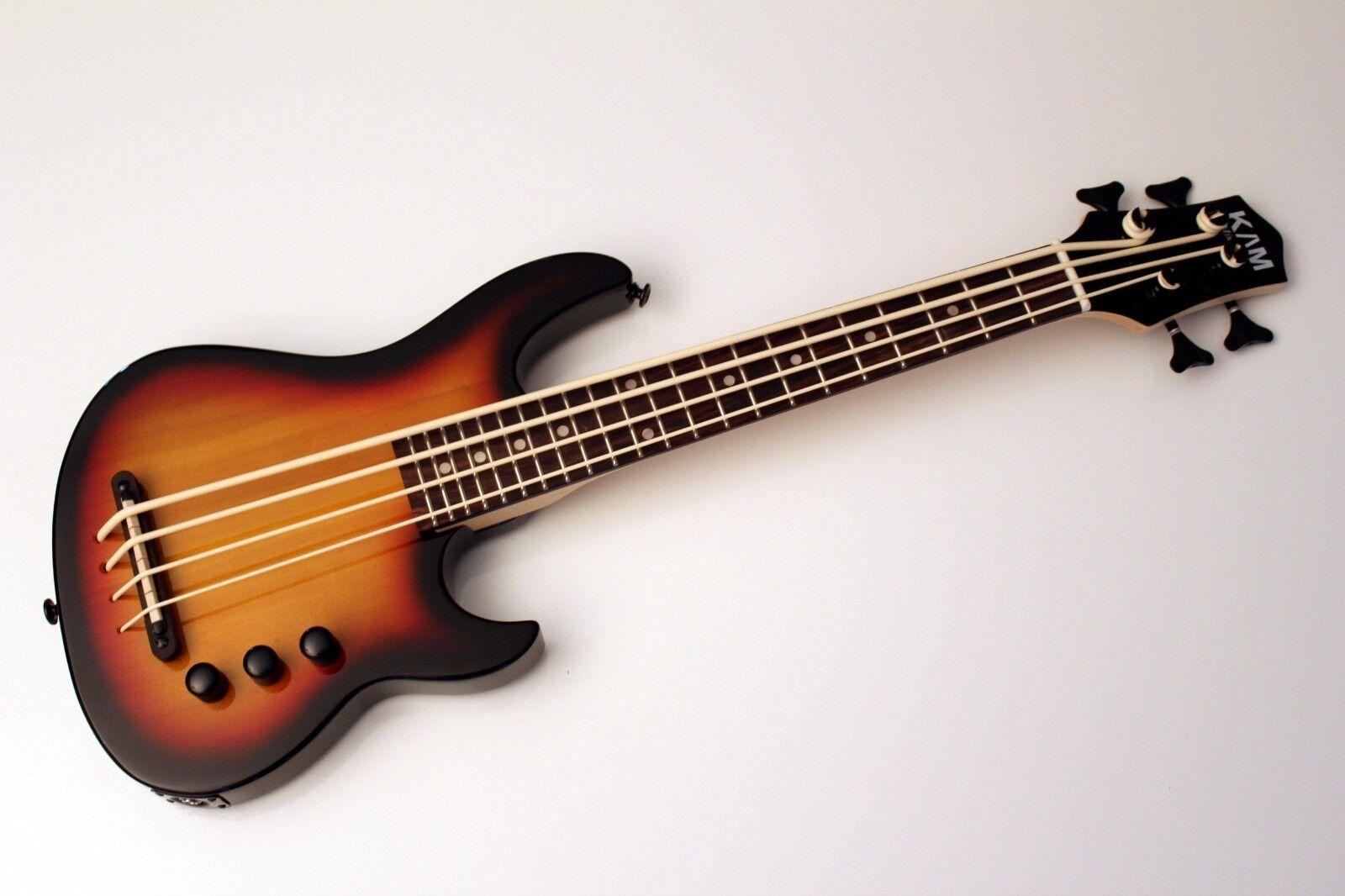 KAM Mini Bass high output Solid body Ukulele Bass  SUB – Sunburst