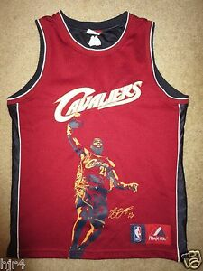 buy popular 1cc54 4c61b Details about LeBron James #23 Cleveland Cavaliers NBA Finals Jersey Youth  M 10-12 children