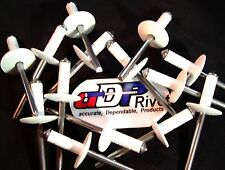 Ultimate multi-grip rivets White Big head BUY 250 get 100 extra FREE