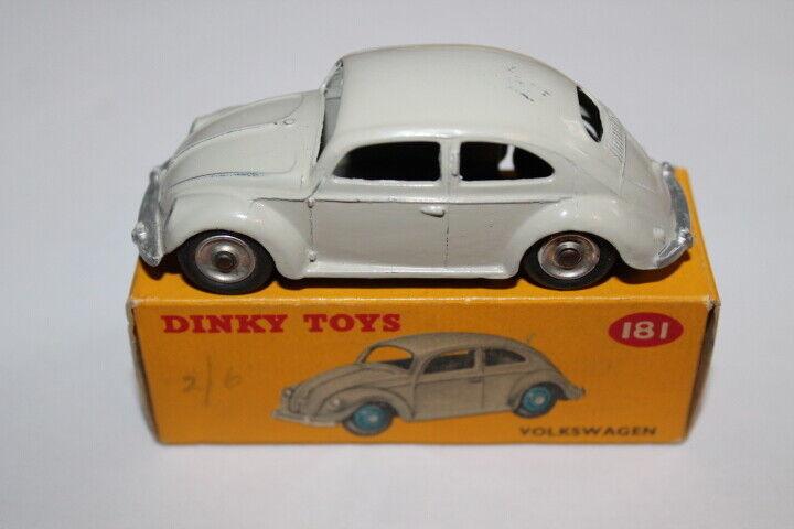 Dinky Toys 181 V.W. Beetle. grau & Spun wheels-Great Box