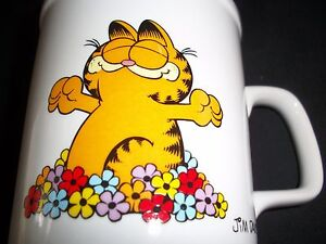 Vintage-Coffee-Mug-Garfield-The-Cat-Cup-Morning-Glory-Crazy-Cat-Lady-Home-Decor