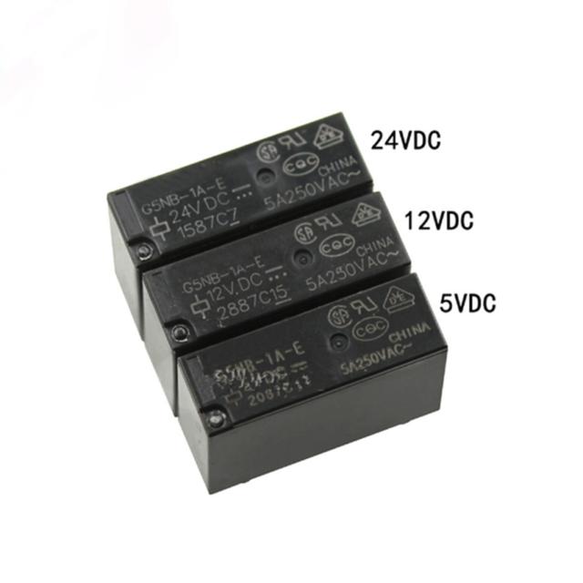 Dc 5v 12v 24v Pcb Relay 4 Pin 3a Black Power Relay 1 Form