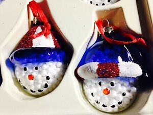 Patriotic Christmas.Details About 8 Hand Painted Blown Glass Patriotic Christmas Ornaments Studio Nova Wood Case