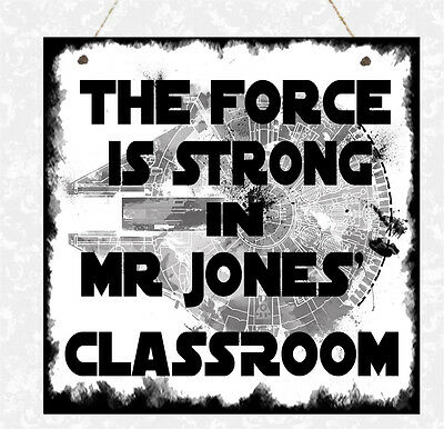 Personalised STAR WARS Plaque Family Classroom House Force Dad Brother Gift