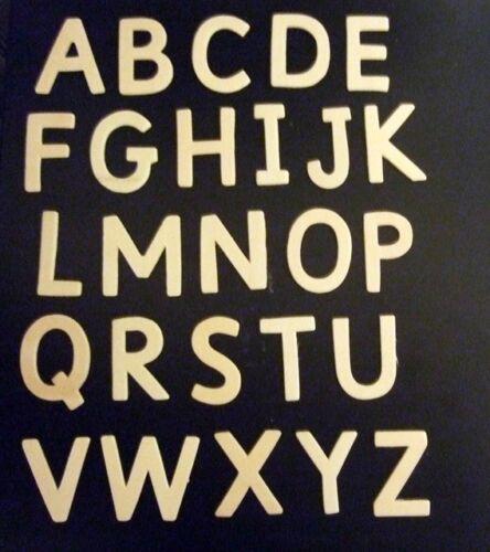 1 x PACK LEGNO capitale maiuscole & 1 X Pack lettere minuscole - 4,5 cm Tall