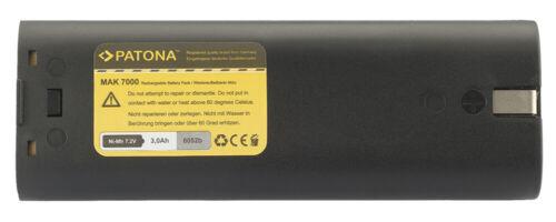 Batteria Patona 7,2V 3000mAh Ni-MH per Makita 6012 D,6012 DL,6012 DW,6012 DWK