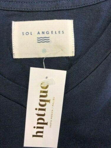 Sol Angeles Essentials Men/'s V Neck T-Shirt Indigo Navy Short Sleeve