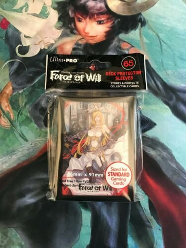 Card guard force of will tcg sleeves x65 ultra pro-valentina