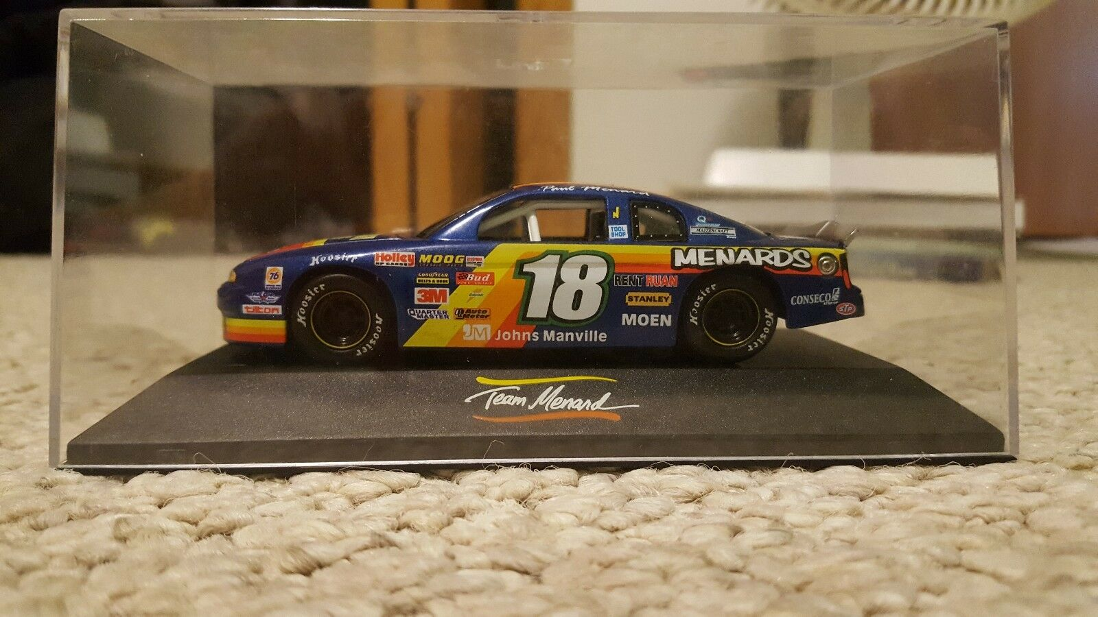 VTG 2001 Paul Menard Re Max Max Max Challenge Series 1 43 Diecast Car & Display Case 67ec46