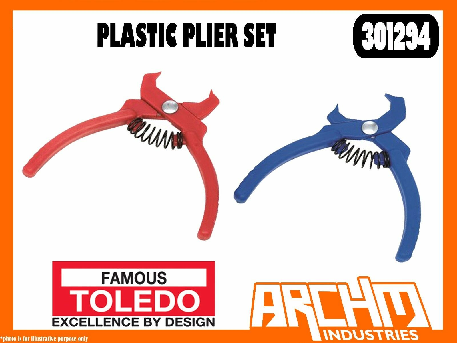 TOLEDO 301294  - PLASTIC PLIER SET - STRAIGHT 30° OFFSET HEAD LIGHT WEIGHT
