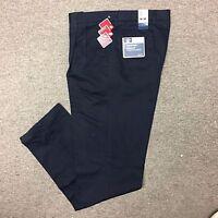 Dockers Men's Classic Fit Signature Khaki Pleated Pants Navy Blue 40x36