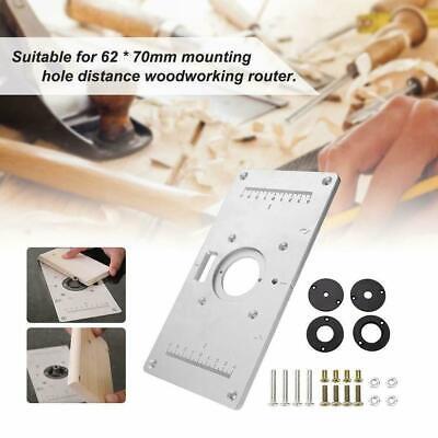 Frästisch//Einlegeplatte//Befestigungsplatte//Grundplatte für Oberfräse 235x120x8mm
