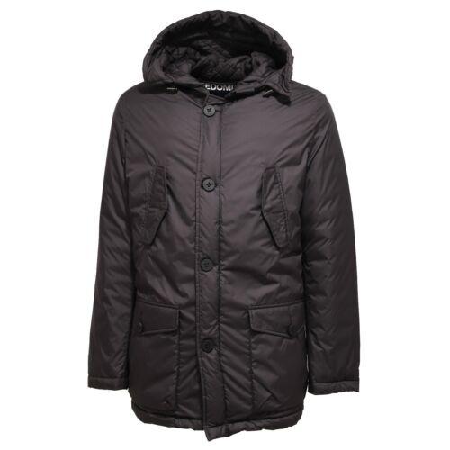 6553U giubbotto uomo nero FREEDOMDAY LOGAN cappuccio real down jacket man