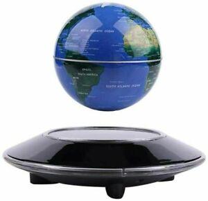 Magnetic Levitation Floating Globe Anti Gravity Rotating World Map w/ LED Light