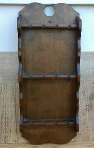 Vintage-Wooden-Wall-Spoon-Display-Rack-Holder-for-12-Spoons
