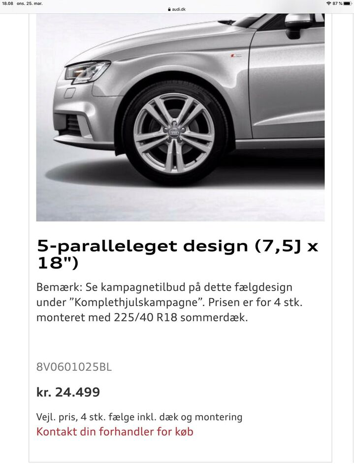 "Alufælge, 18"", Audi R18"