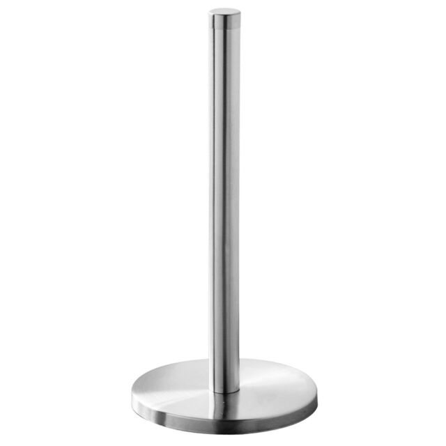 Kitchen Towel Roll Holder Paper Tidy Stainless Steel  Brushed Steel Stand