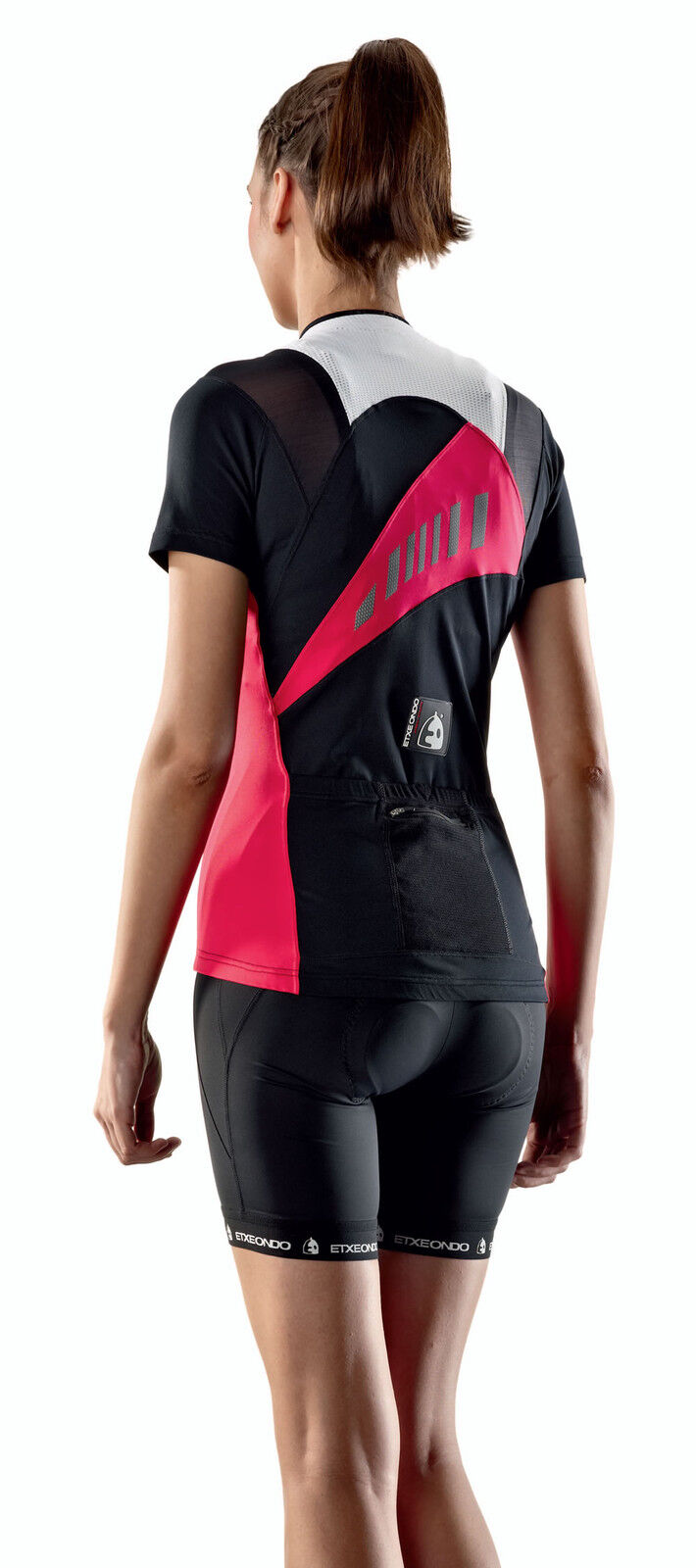 ETXEONDO Kaxu Women's CYCLING short sleeve Jersey in pink (Made in Spain)